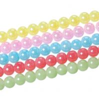 Glass Beads Round 8mm Dia, Hole: Approx 1.5mm,  Approx 108 PCs